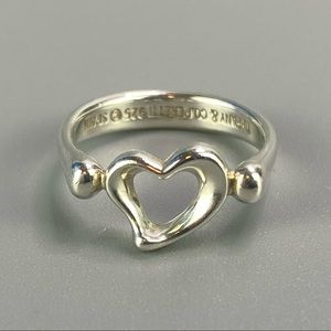 Authentic Tiffany Open Heart Ring AG925
